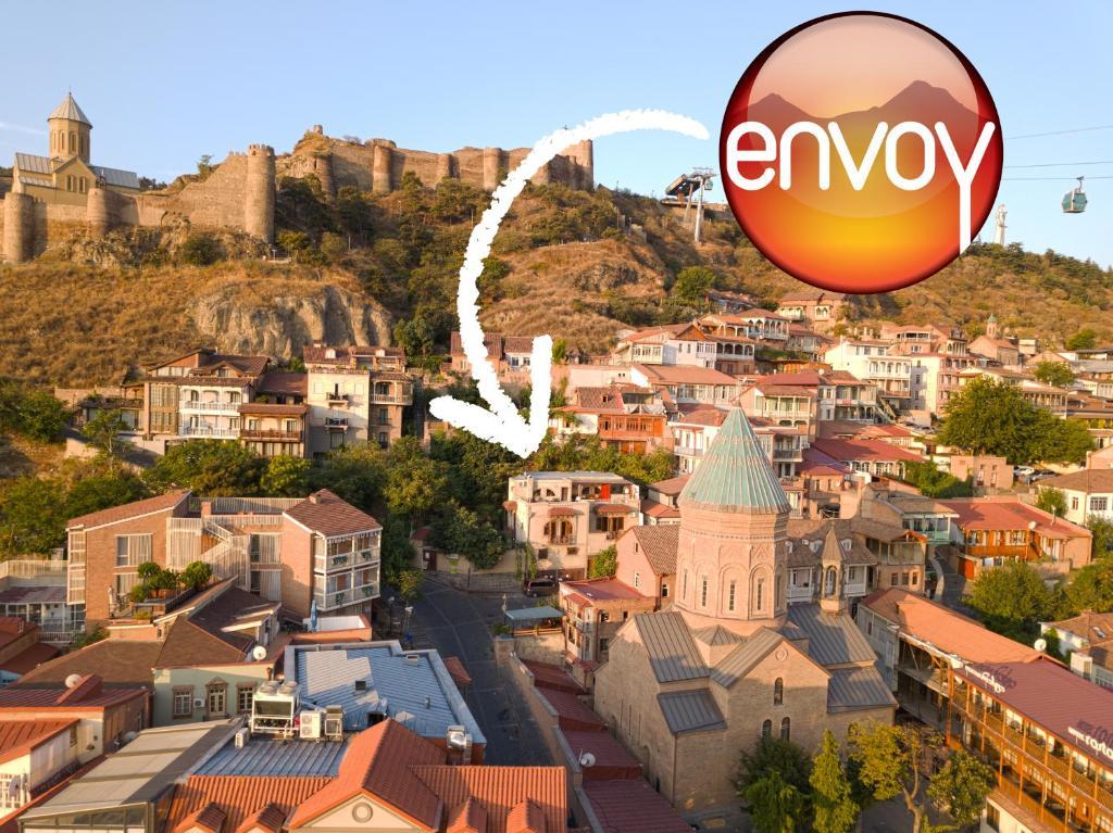 A bird's-eye view of Envoy Hostel