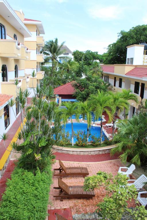 Вид на бассейн в Vista Caribe Diving Resort Playa del Carmen или окрестностях