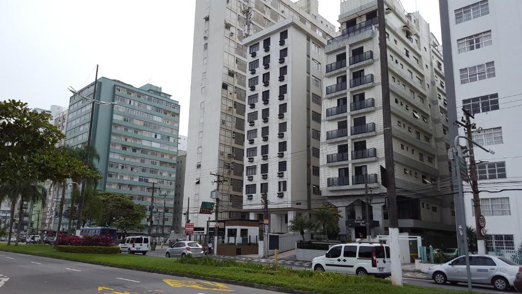 Santos - Apartamento Frente Mar C/ Ar Condicionado/ Garagem Privativa/Internet/TV a Cabo