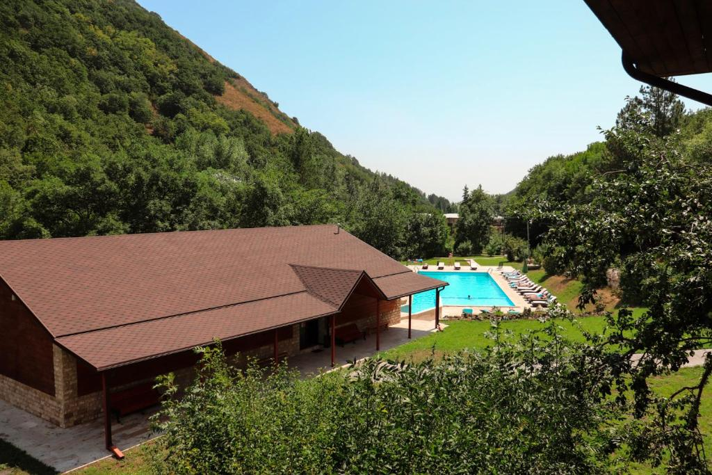 A view of the pool at Apricot Aghveran Resort or nearby