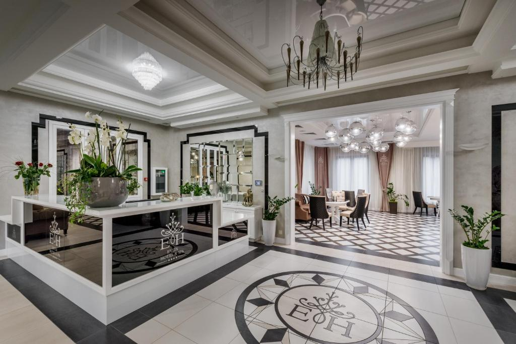 The lobby or reception area at Evita