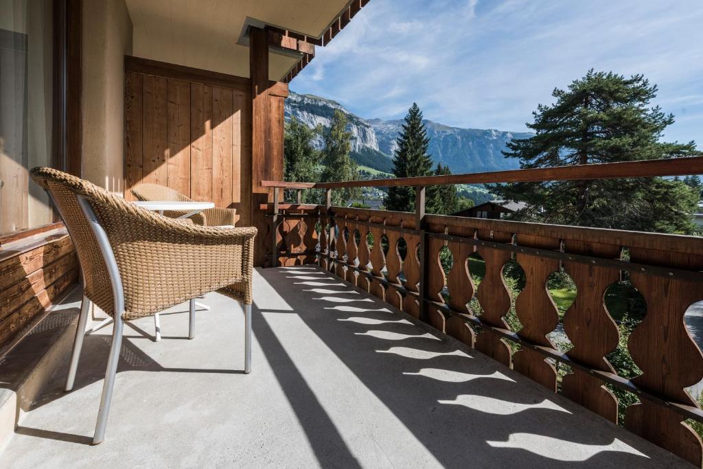 A balcony or terrace at Hotel Adula