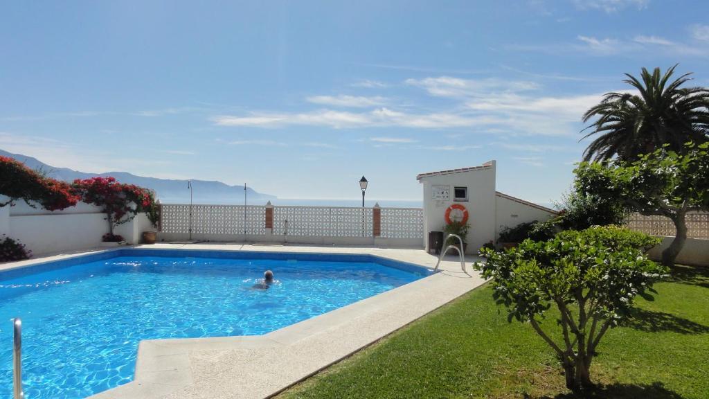 The swimming pool at or near Rocamar, Nerja