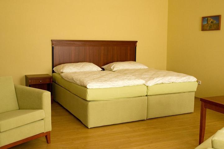 Postel nebo postele na pokoji v ubytování Penzion Zlatý vůl