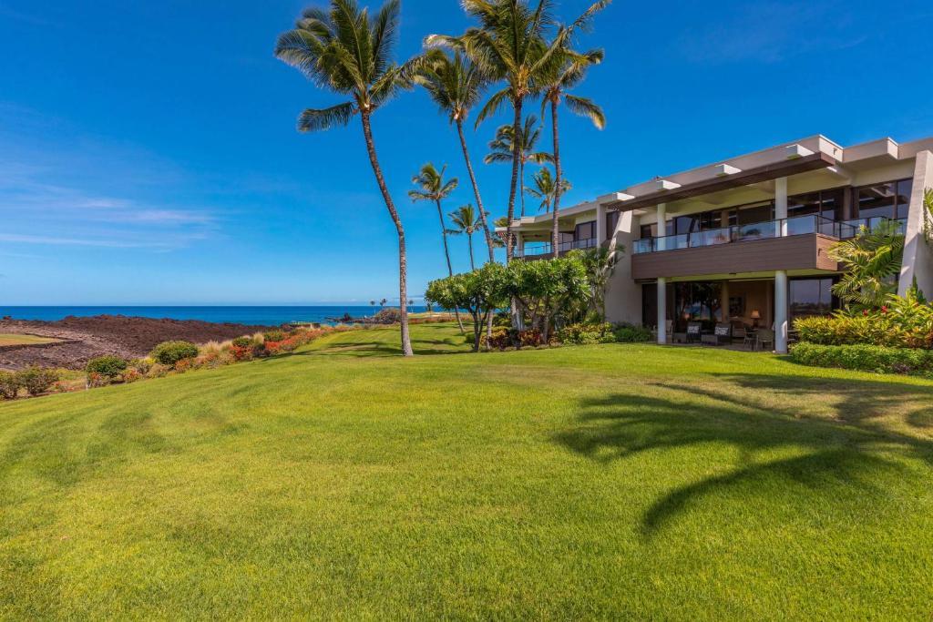 A garden outside Mauna Lani Point