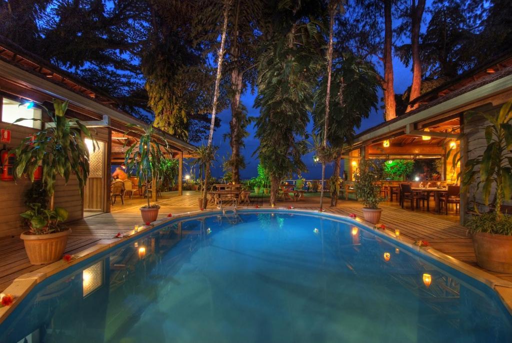The swimming pool at or near Walindi Plantation Resort