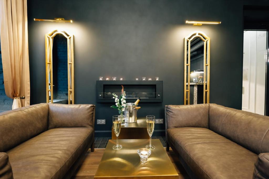 A seating area at Boutique Hotel Arbat 6
