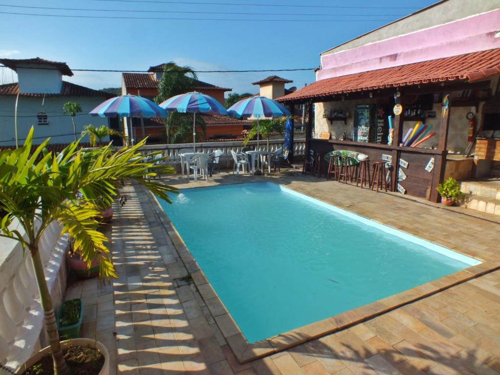 The swimming pool at or close to Pousada Azul dos Buzios