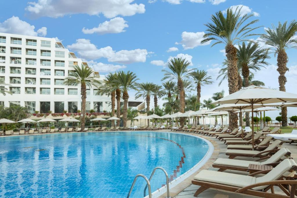 The swimming pool at or near Isrotel Dead Sea Hotel