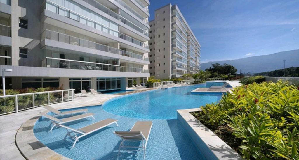 Apartamento Praia Bertioga Frente Mar