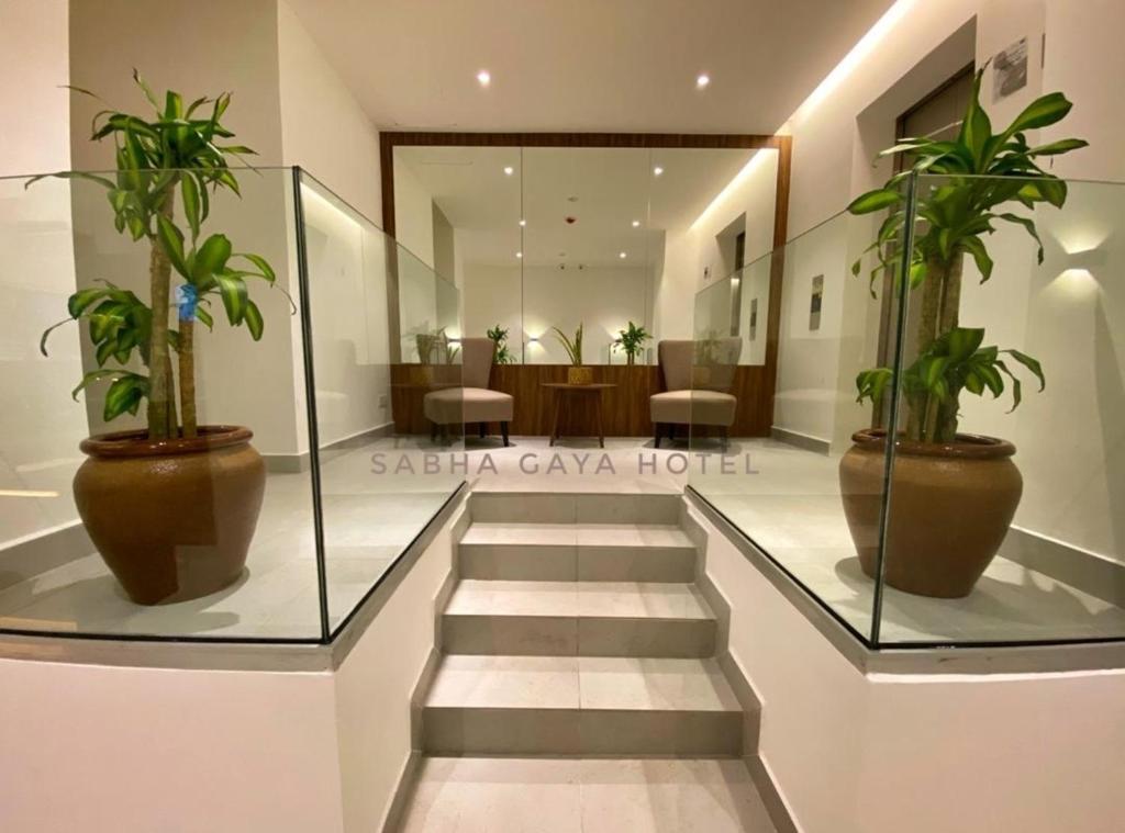 The lobby or reception area at Sabha Gaya Hotel