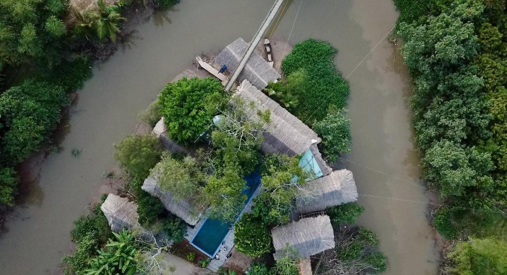 Een luchtfoto van Nguyen Shack - Mekong Can Tho
