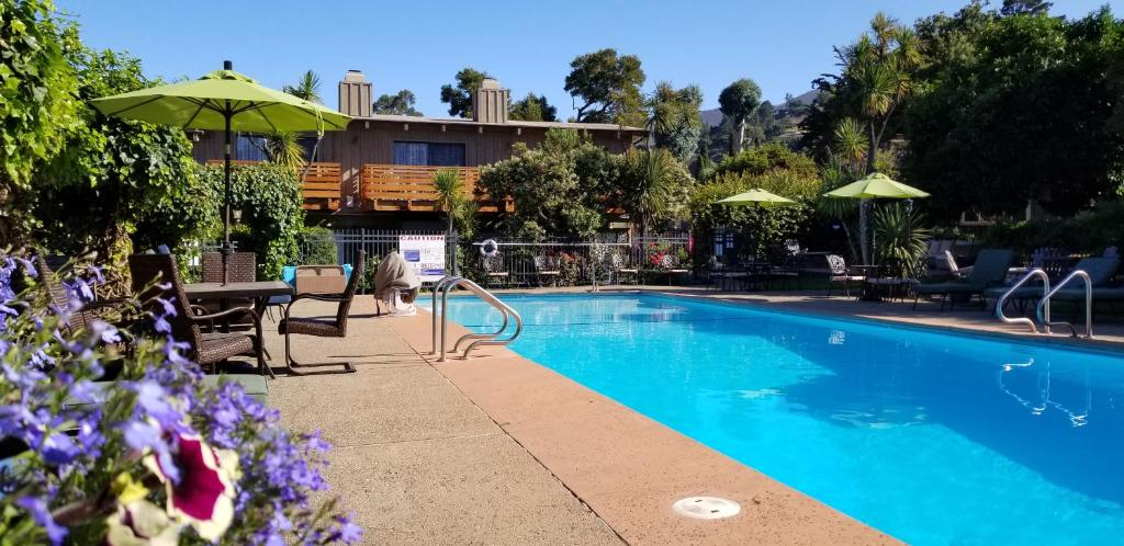 The swimming pool at or near Carmel Valley Lodge