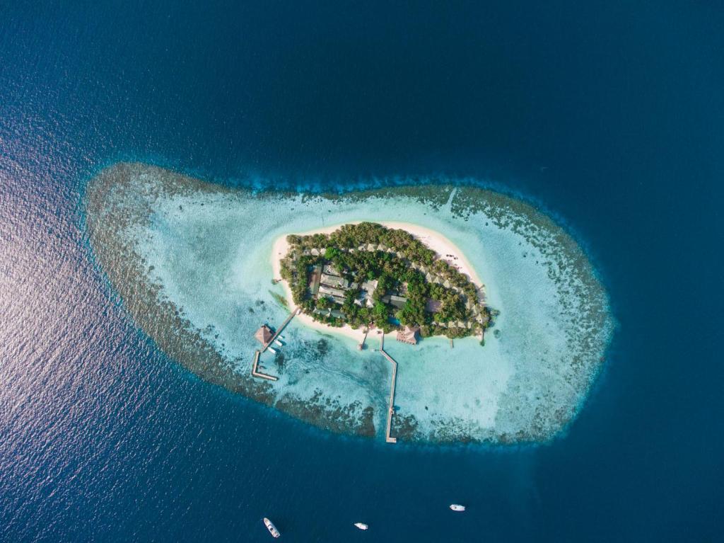 Vue panoramique sur l'établissement Eriyadu Island Resort
