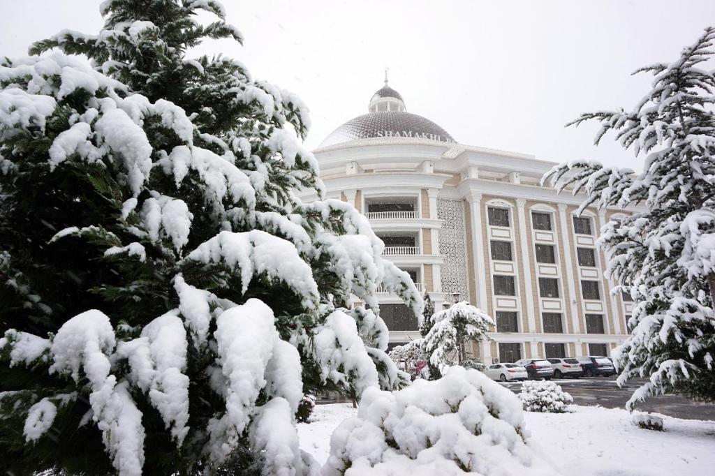Shamakhi Palace Sharadil durante o inverno