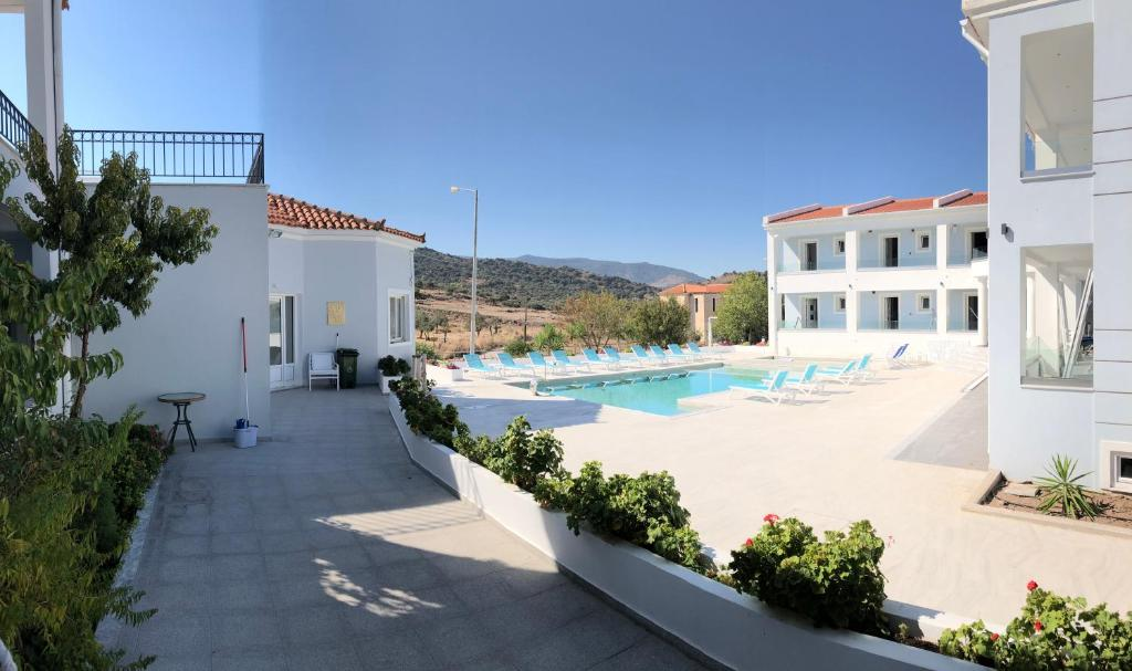 The swimming pool at or near Hotel Defkalion