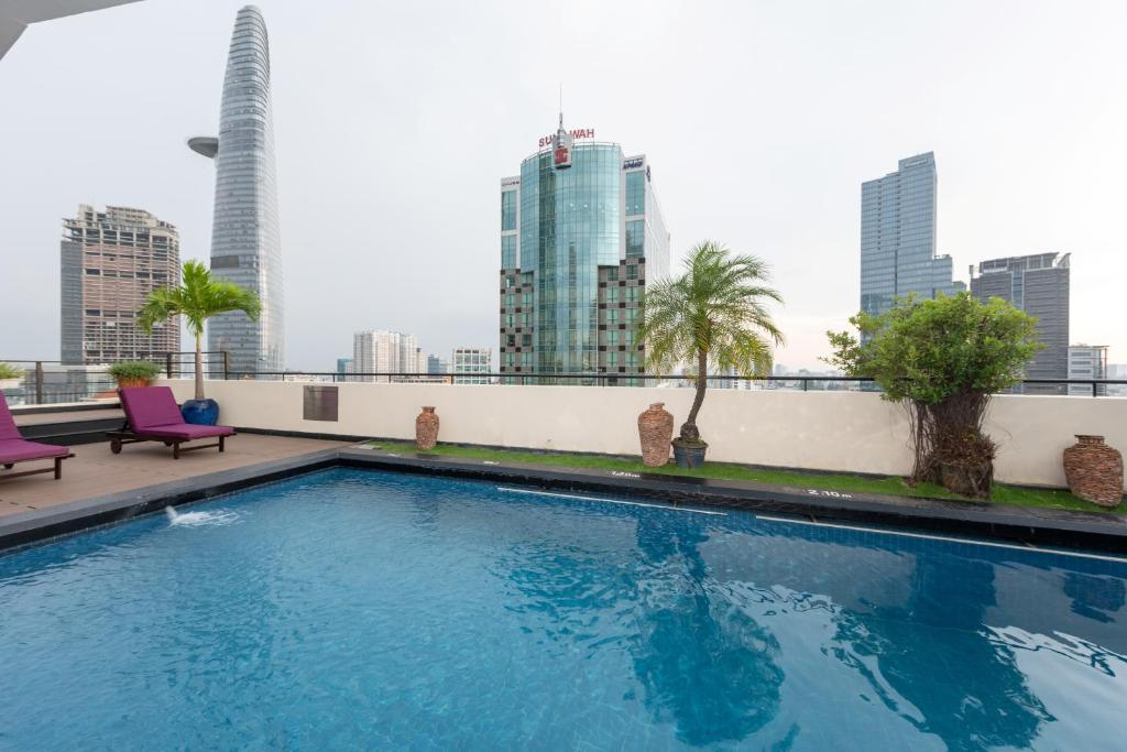 The swimming pool at or near Palace Hotel Saigon