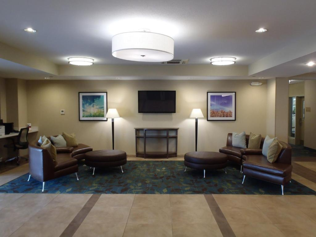 The lobby or reception area at Candlewood Suites Bensalem - Philadelphia Area
