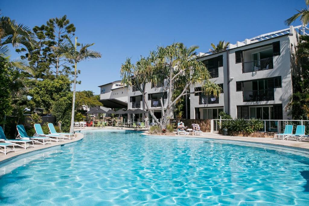 The swimming pool at or near Noosa Blue Resort