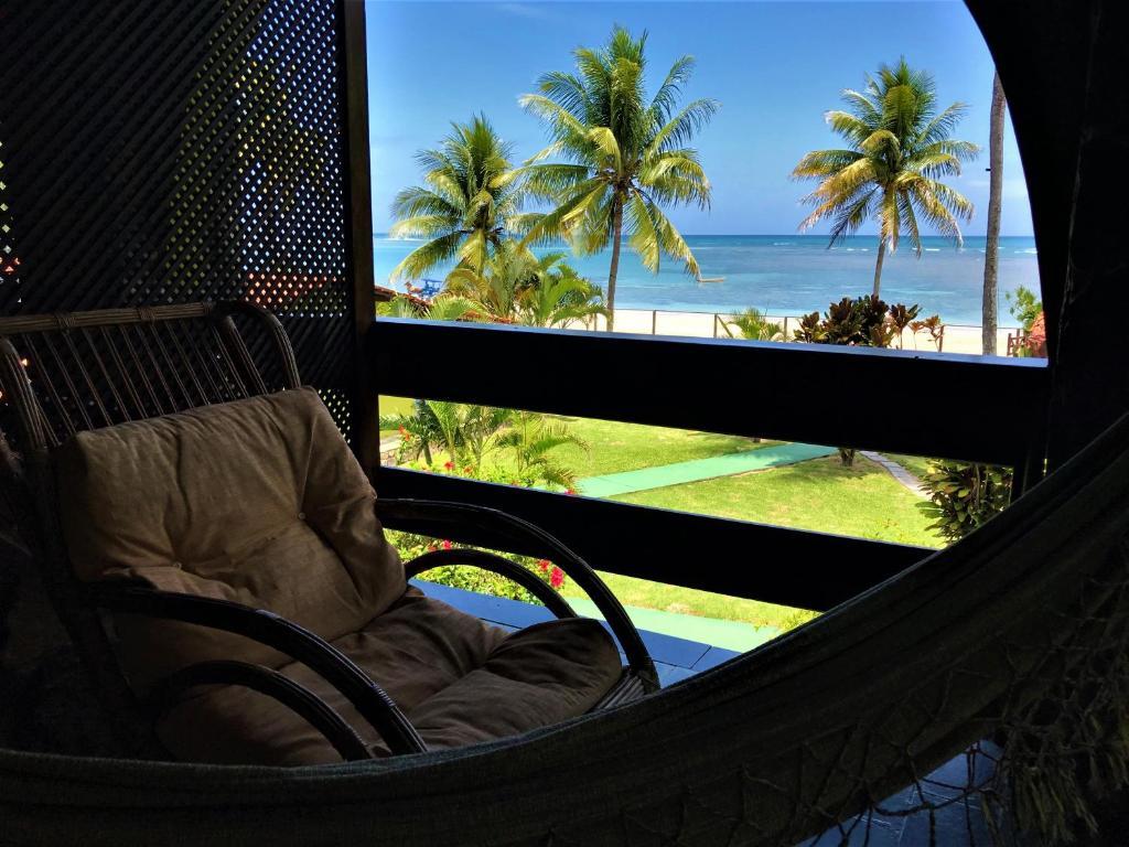 A balcony or terrace at Catavento Praia Hotel