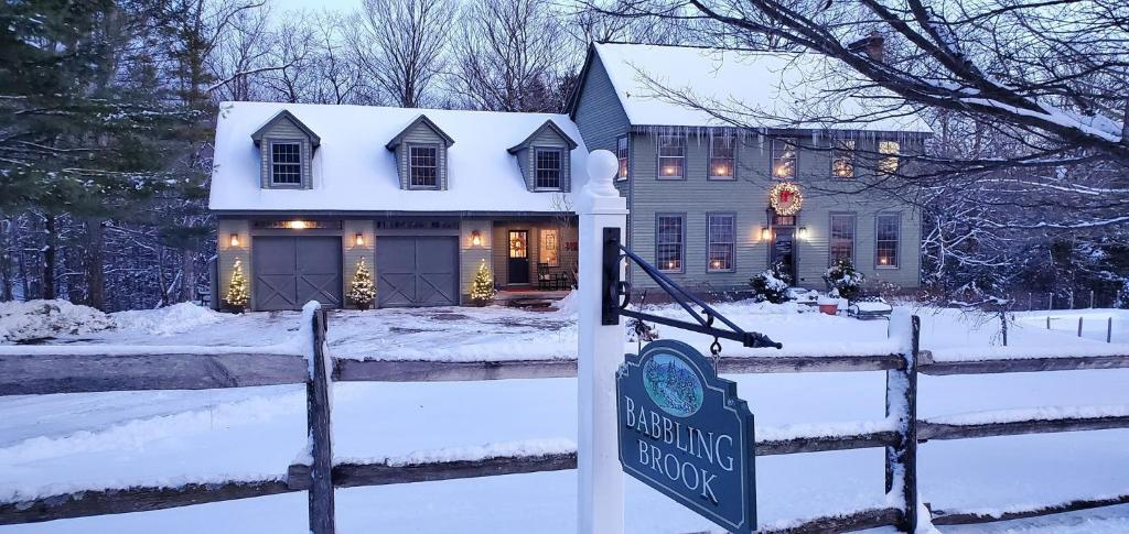 Babbling Brook Retreat during the winter