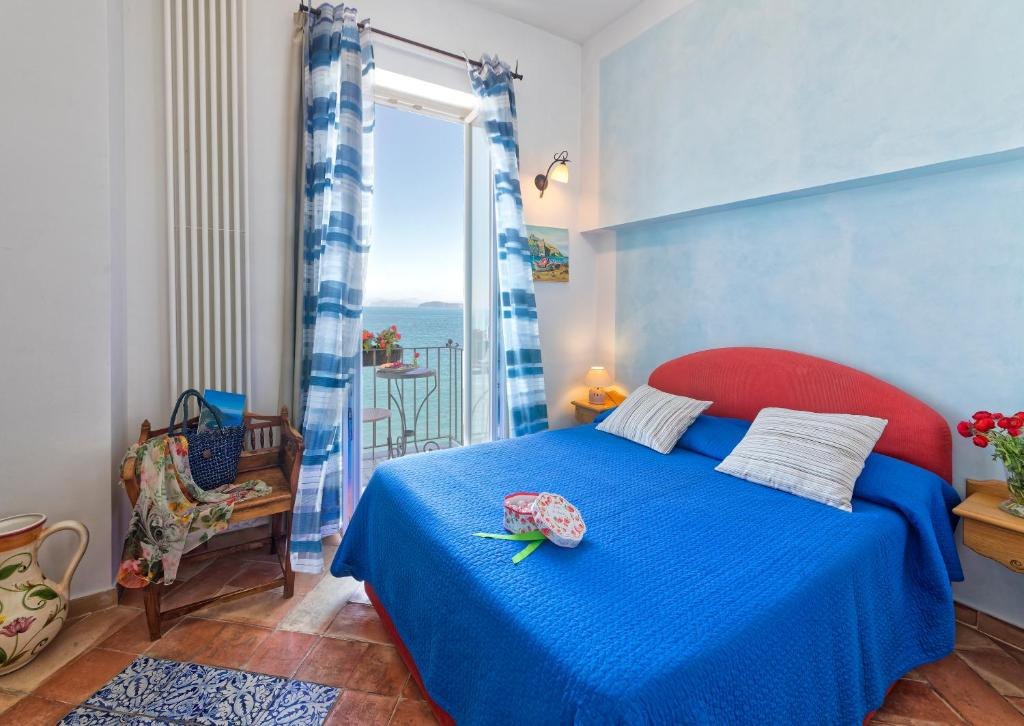 A bed or beds in a room at Villa Lieta