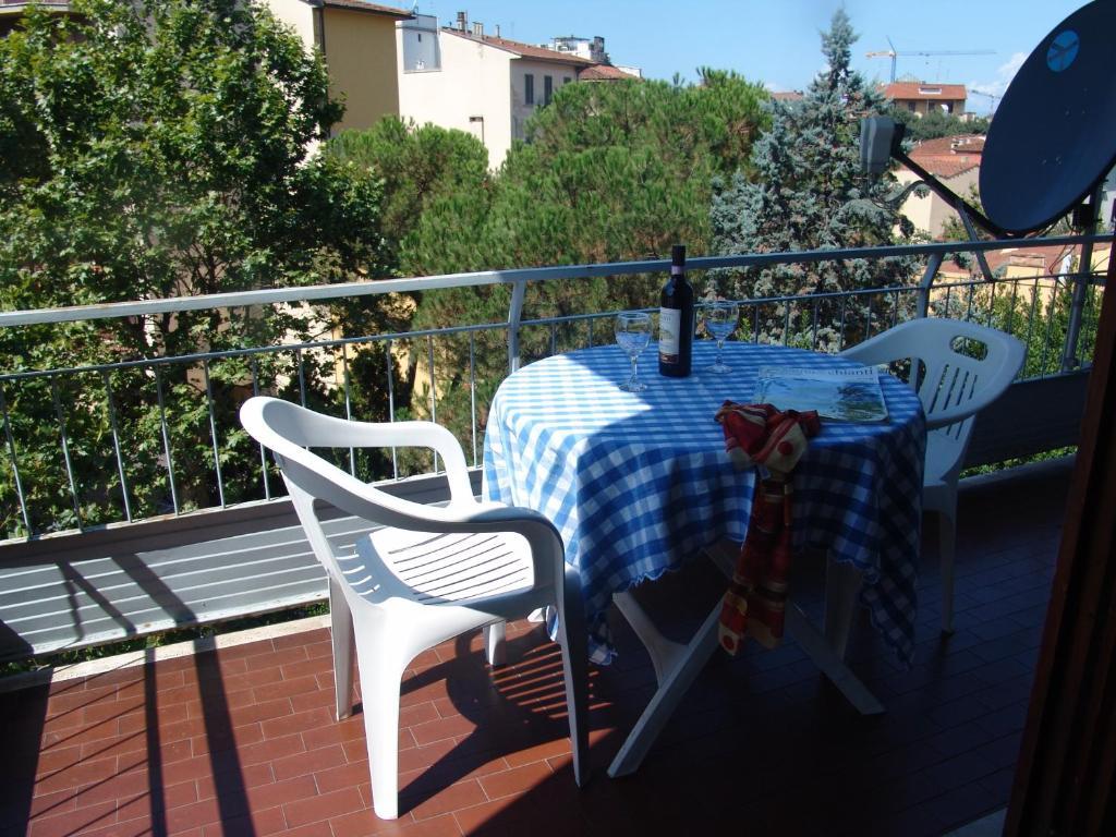 Un balcón o terraza de Green Apartment