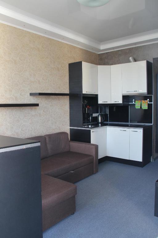 Кухня или мини-кухня в Отель Волна