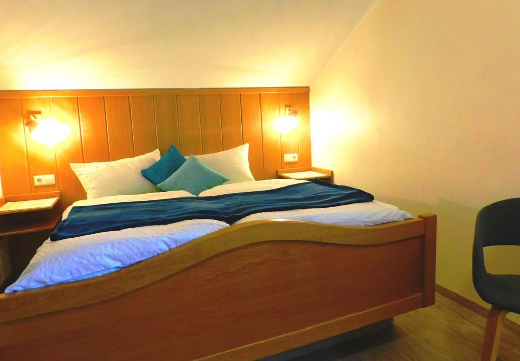 Postel nebo postele na pokoji v ubytování Ferienhaus Franzenhof
