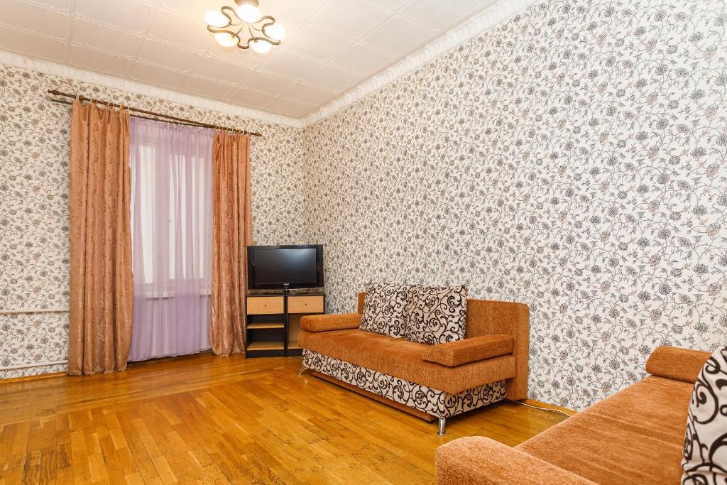 Гостиная зона в Апартаменты на проспекте Ленина 97