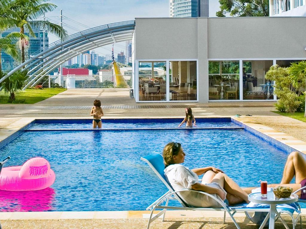The swimming pool at or near Novotel Sao Paulo Morumbi