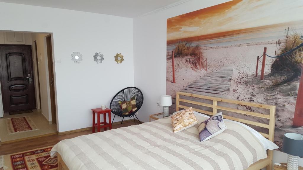 Un pat sau paturi într-o cameră la Vintage Roof Top
