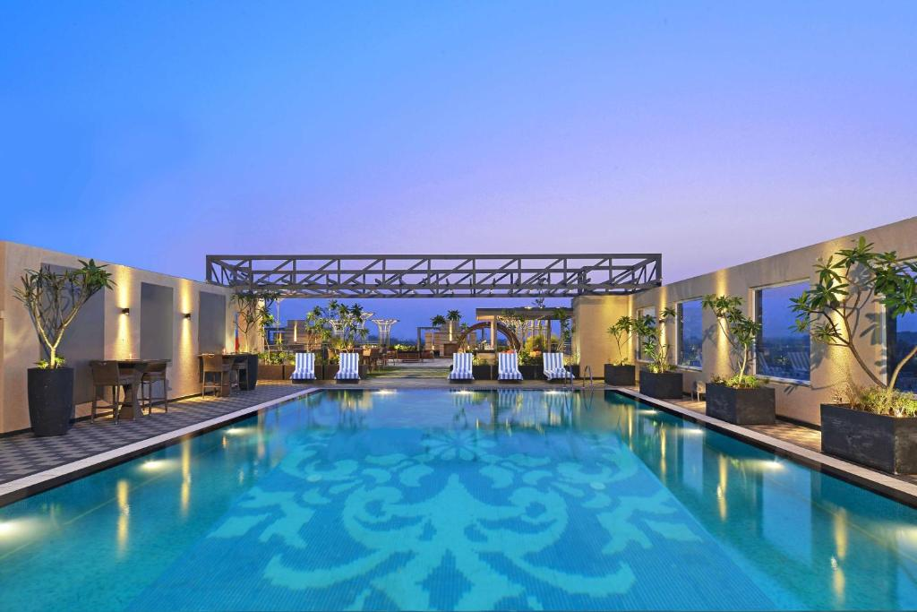 The swimming pool at or close to Radisson Chandigarh Zirakpur