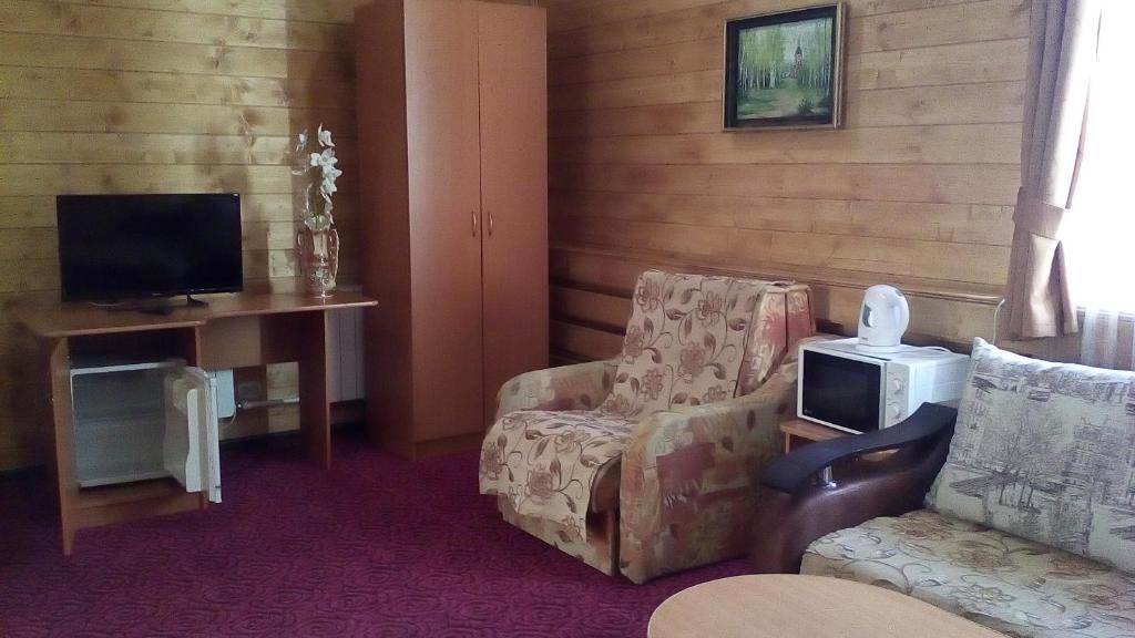 Телевизор и/или развлекательный центр в Гостиница Евразия