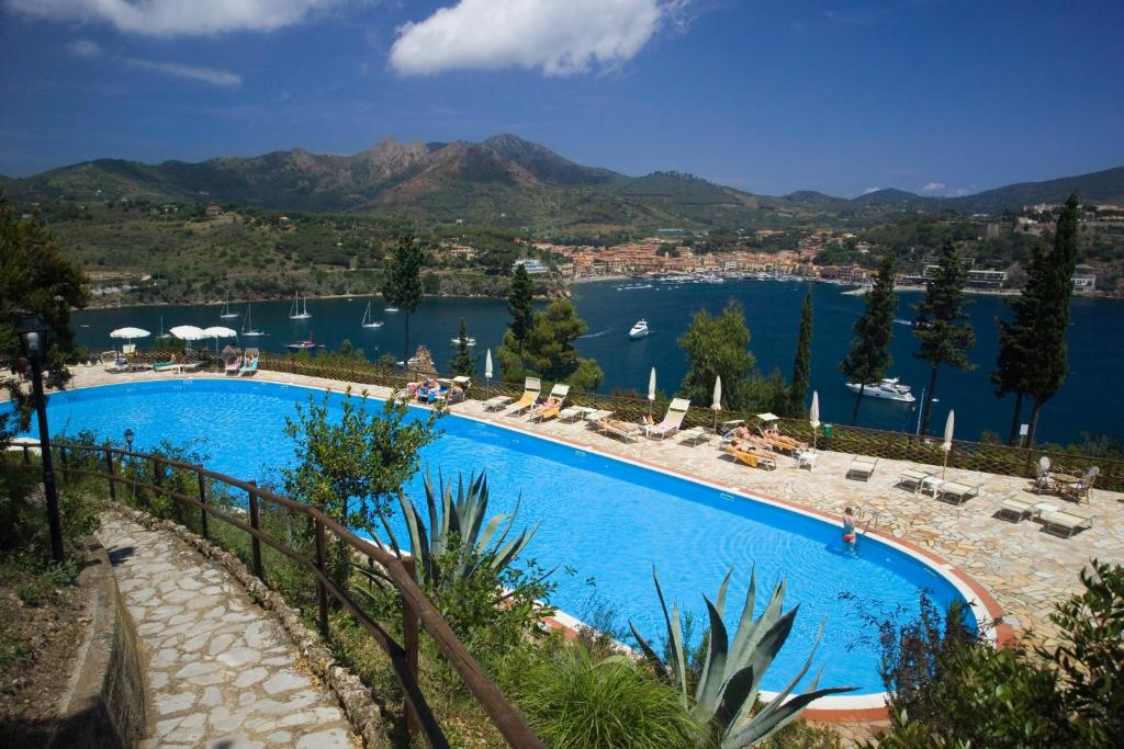 The swimming pool at or near Grand Hotel Elba International