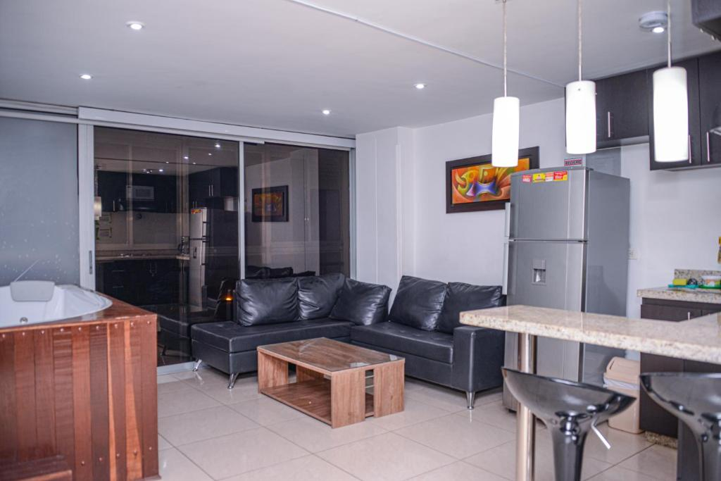 A seating area at Apartment Carrera 301