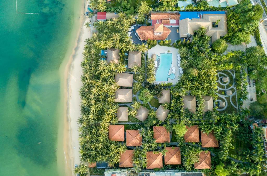 A bird's-eye view of L'Azure Resort and Spa