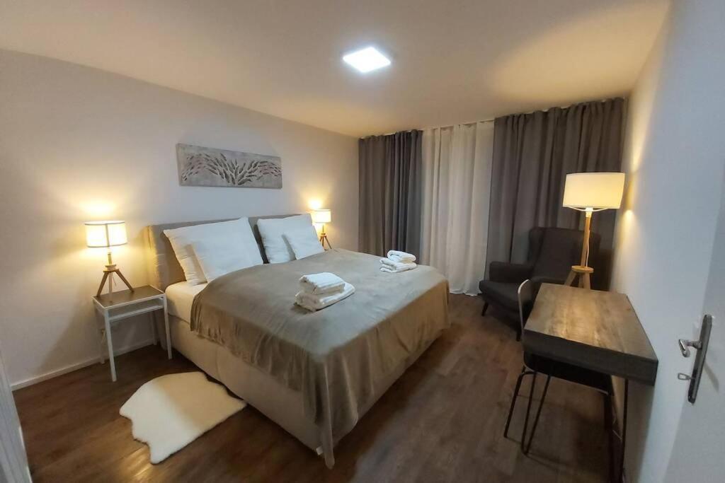 Ein Bett oder Betten in einem Zimmer der Unterkunft Mülln Apartment
