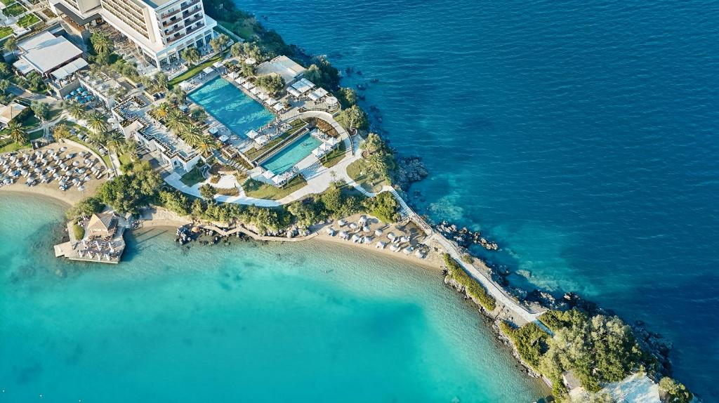 A bird's-eye view of Corfu Imperial, Grecotel Exclusive Resort