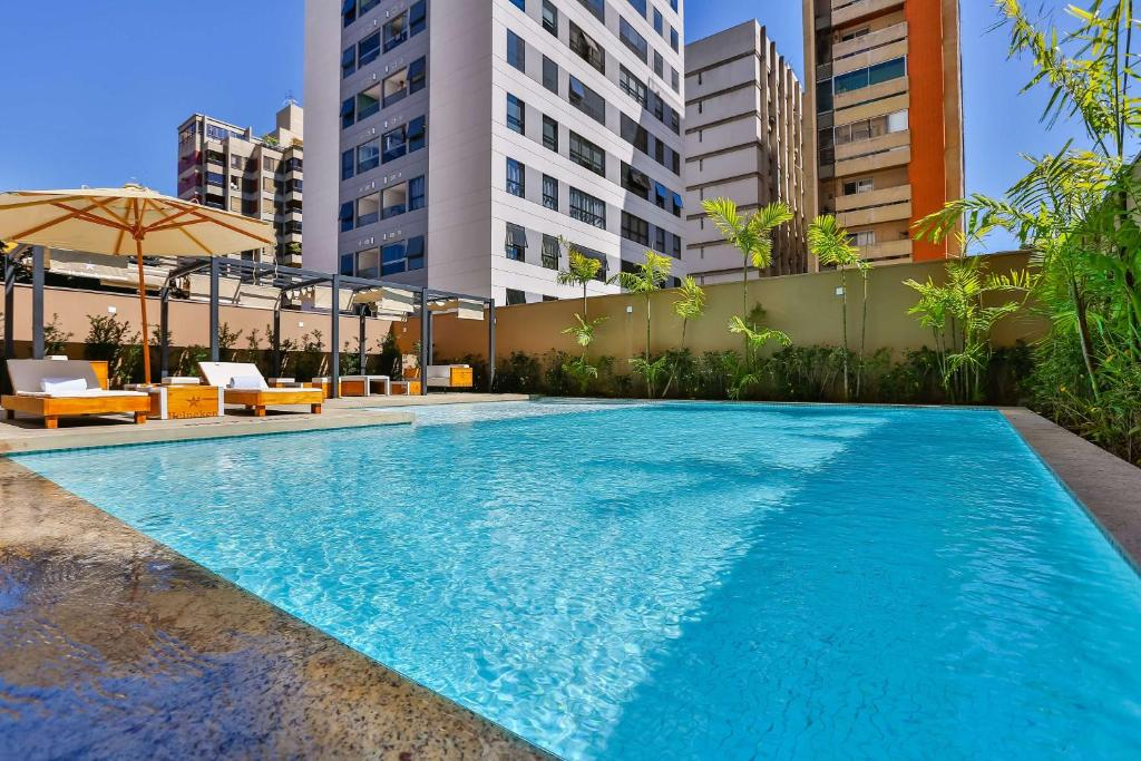 The swimming pool at or near Radisson Red Campinas