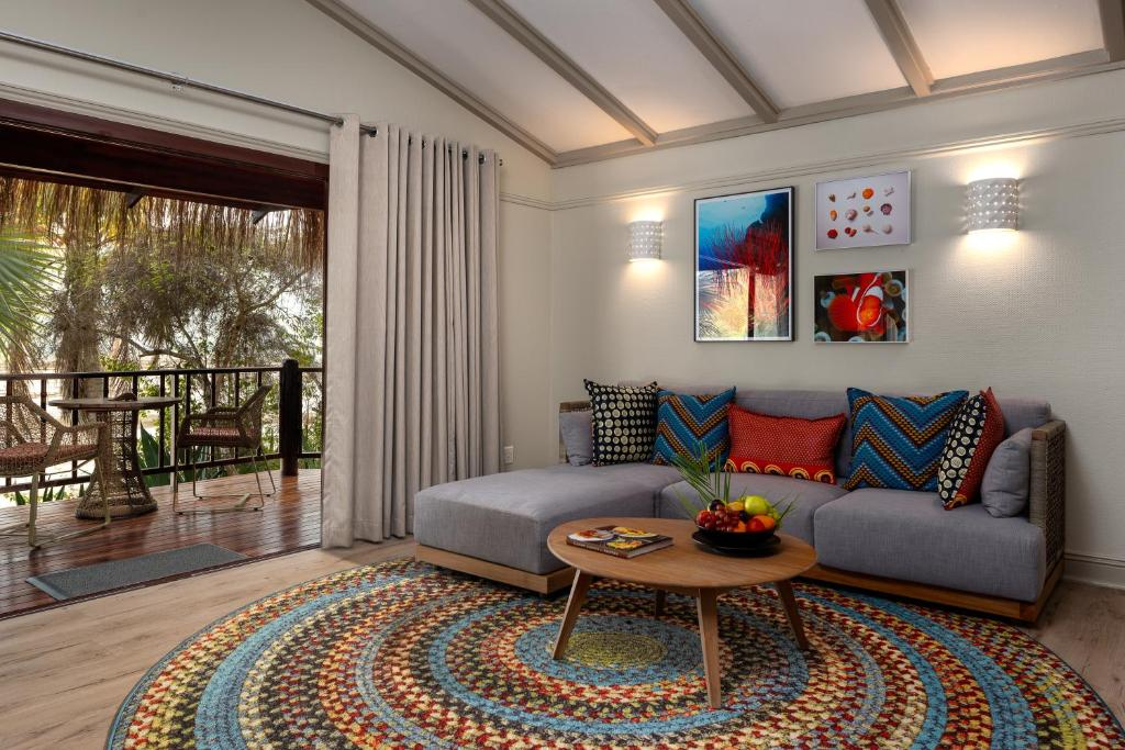 A seating area at Anantara Bazaruto Island Resort