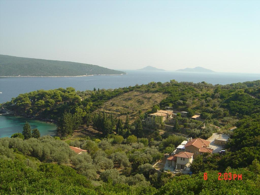 A bird's-eye view of Lithea Villas and Studios by the Sea