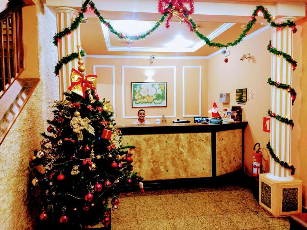 The lobby or reception area at Hotel Max Mazza