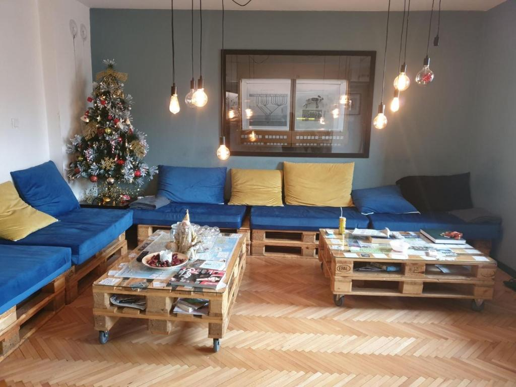 A seating area at Nordic Hostel N-Box