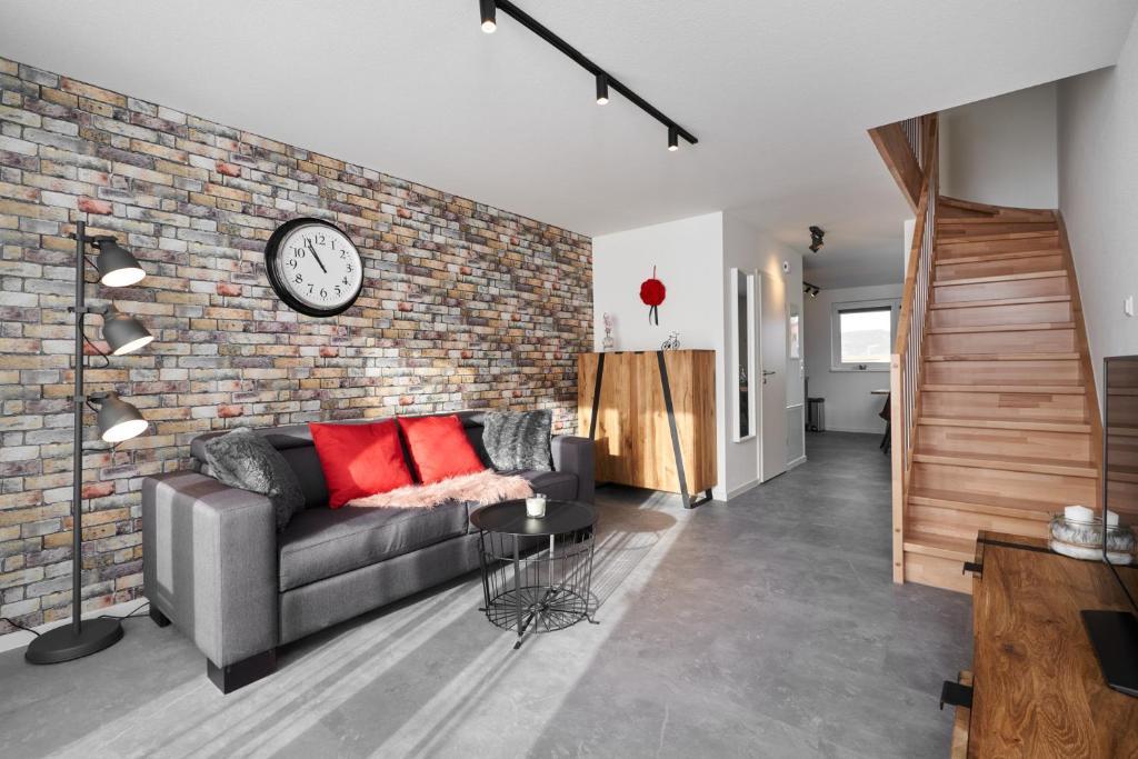 Ein Sitzbereich in der Unterkunft Boutique Apartments Kirchzarten