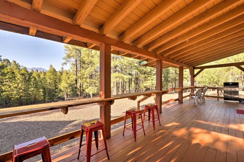 Rustic Flagstaff Cabin with Views, Sauna, & Fire Pit!