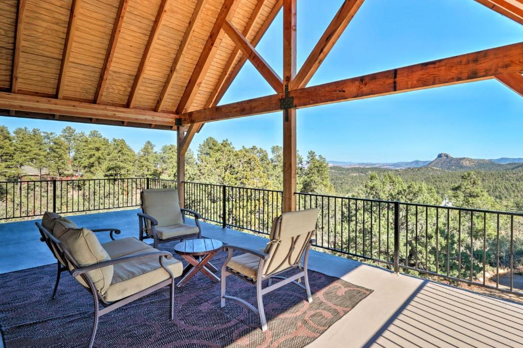 A balcony or terrace at Pet-Friendly Prescott Home with Game Room and Mtn Views