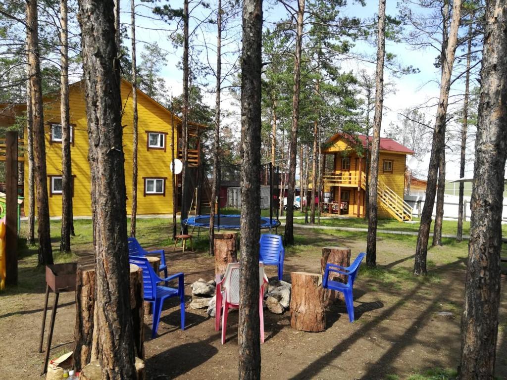 Children's play area at Baza Lesnaya