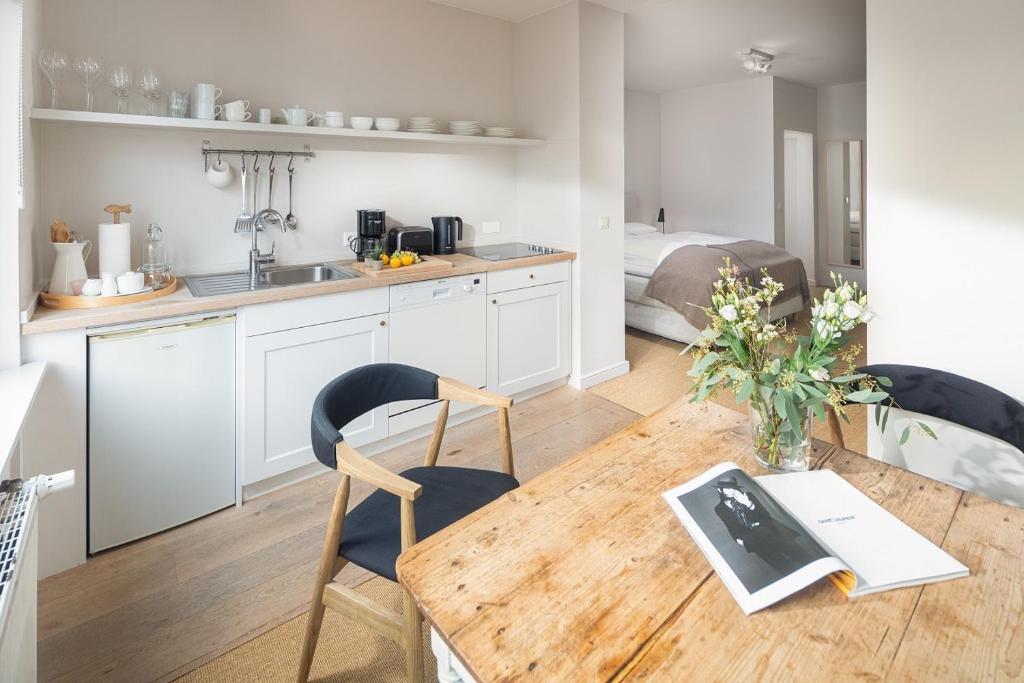 Küche/Küchenzeile in der Unterkunft Friedrich Inn