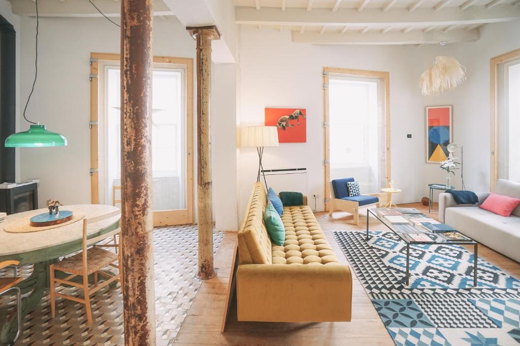 Zona de estar de Hotel Singular & Small Hevresac
